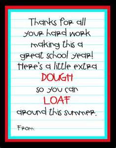 Printable Teacher Appreciation Thank You Note