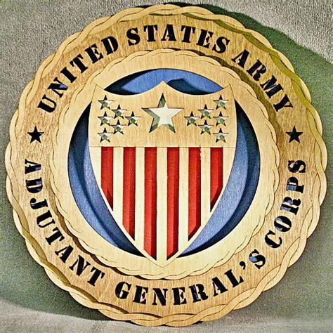 adjutant general wall tribute wtd adjutant generals corps  custom laser accents