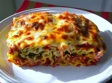 Lasagna With Spinach And Ricotta Cheese