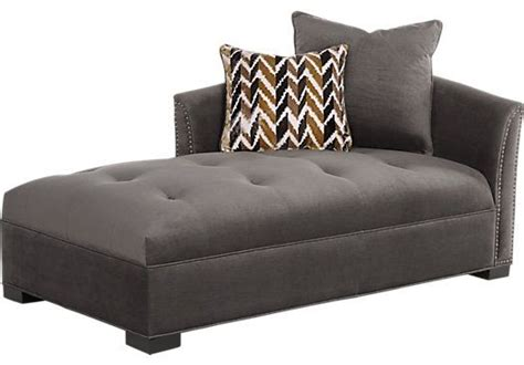 rooms to go chaise sofia vergara mandalay charcoal chaise for the home