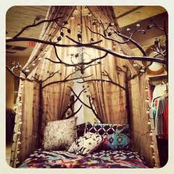forest canopy bed boho anthropologie and forests