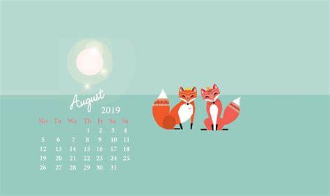 august  desktop calendar wallpaper latest calendar