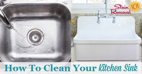 how to clean a porcelain sink with baking soda how to clean kitchen sinks hints and tips