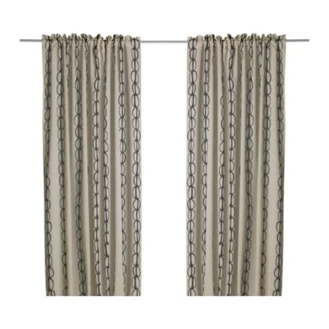 vilmie pair of curtains from ikea black beige 29 99