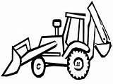 Digger Coloring Pages Trucks Excavator Printable Outline Print Getcoloringpages Loader Backhoe sketch template