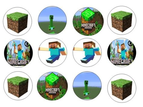 minecraft edible cupcake toppers x 12 for sale in dalkey dublin from flour power