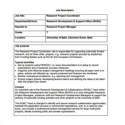 project coordinator description template 9 free