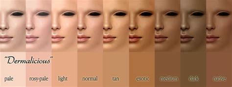Shade Of For Skin Tone by Reference Material For Basic Skin Tones Skintone