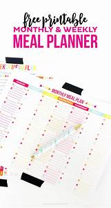 Weekly Healthy Meal Planners 30 Family Meal Planning Templates Weekly Monthly Budget
