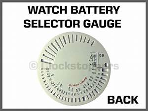 Watch Battery Selector Gauge Chart Plastic Cell Lithium
