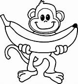 Monkey Coloring Cartoon Printable Colorir Animal 101coloring Desenhos Macaco Monkeys Adults Adult Faca sketch template