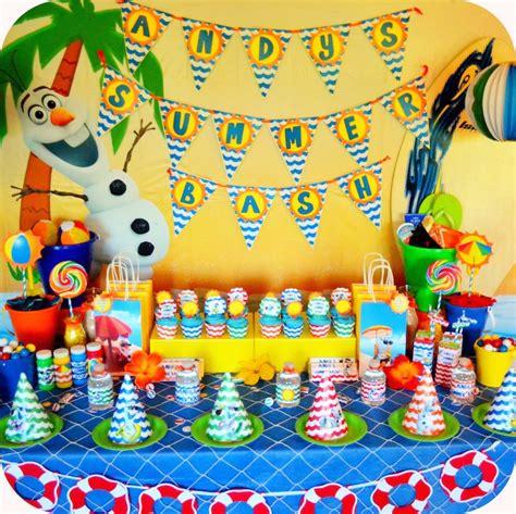 mesa de doces da festa  olaf  frozen de verao festa