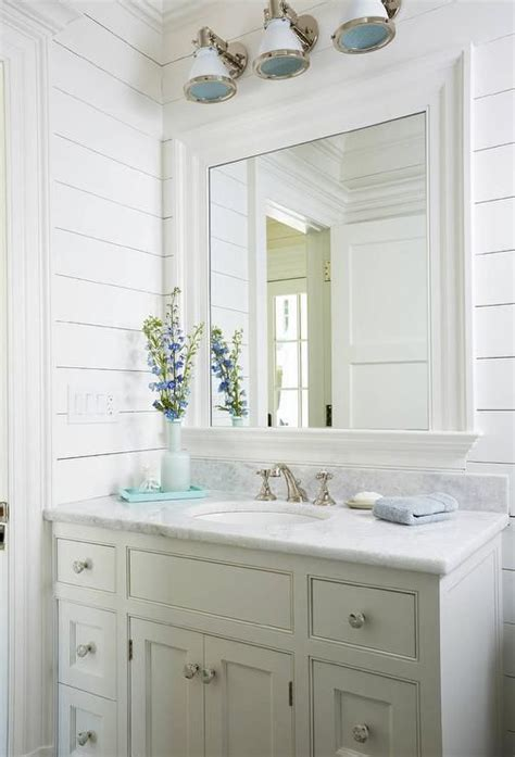gorgeous white beach style bathroom  fitted