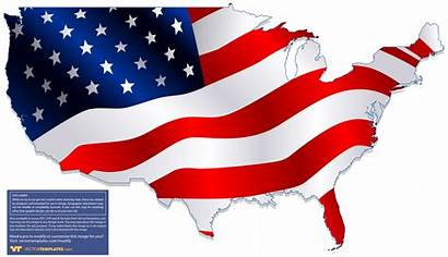 Flag Usa Map States United Outline American