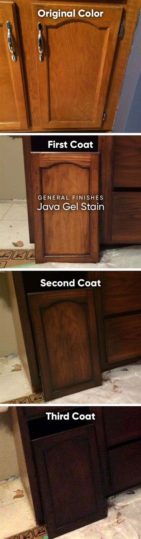 how to update honey oak kitchen cabinets gel stain general finishes java diy house ideas 9594