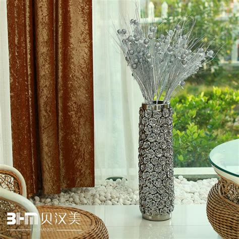 Large Silver Vases Wholesale by Ceramic Modern Ceramic Home Decoration Silver Large