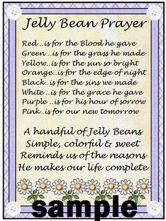 easter printable jelly bean prayer  holiday