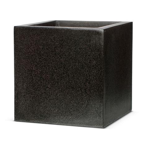 Black Square Planter Box by Black Terrazzo Look Square Planter Capi Garden Flower