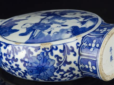 blue and white china l late jiaqing chinese blue and white china moon flask ebay