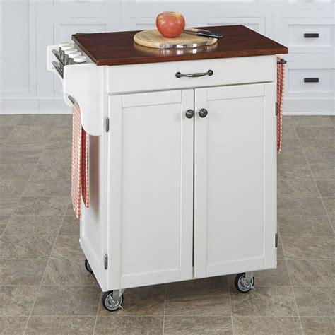 shop home styles whitecherry rectangular kitchen cart