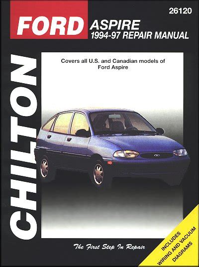 car manuals free online 1994 ford aspire head up display ford aspire repair workshop manual 1994 1997 chilton 26120