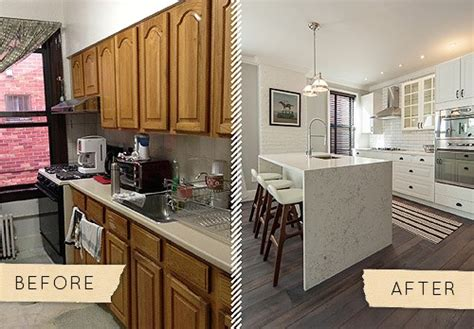 before and after photos of painted kitchen cabinets antes despu 233 s de una cocina aburrida a una muy chic 9888