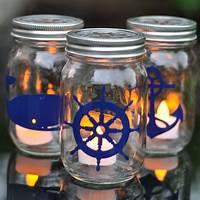 mason jar lantern Nautical Mason Jar Lanterns - Suburble