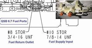 Cummins Qsb 6 7 Fuel Supply And Return Ports