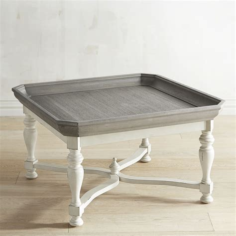 One of coffee table model is chunky table. love this two-toned coffee table; would look great in a modern farmhouse or coastal style home ...