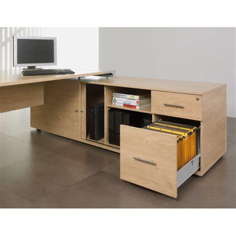 bureau bois acier bureau de direction sur console bois et acier