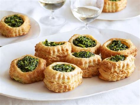 puff pastry canapes ideas cheese and spinach puff pastry pockets recipe giada de laurentiis food