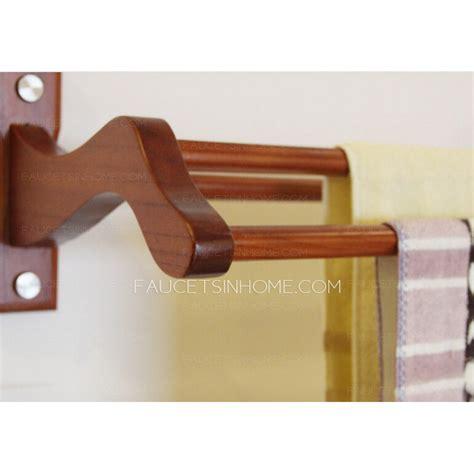 decorative wood rustic towel bars  bathroom