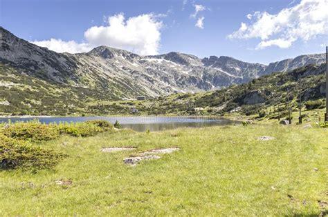 The Lower Fish Lake Ribni Ezera, Rila Mountain, Bulgaria Stock Image - Image of mountaineering ...