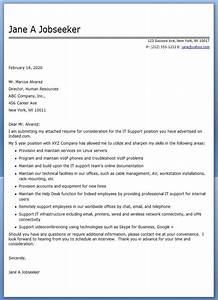 sample cover letter it professional cover letter examples With sample cover letter for an it professional
