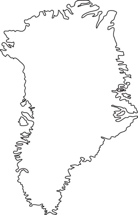 outline map  greenland outline map
