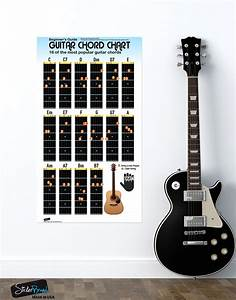 Guitar Chord Chart Poster  16 Popular Chords Guide