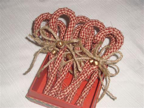 homespun primitive candy canes christmas crafts