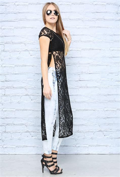 Slit Side Knit Top lace side slit top shop knit tops at