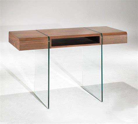 bureau design en verre enterprise bureau design bois et verre avec tiroirs