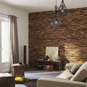 Parement Bois Intérieur : plaquette de parement bois recycl boho mur ideedeco ~ Premium-room.com Idées de Décoration