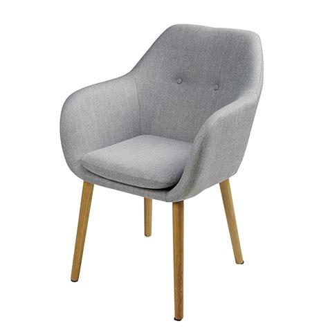 fauteuil en polypropylene gris  chene arnold maisons du monde