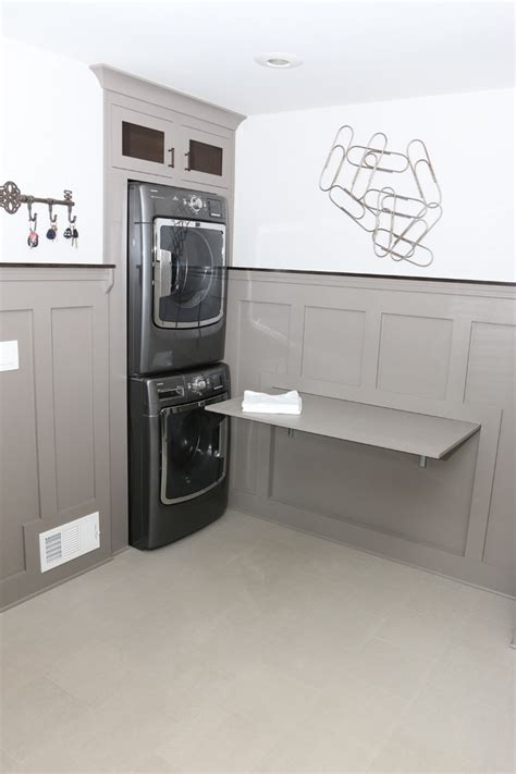 chic keter folding work table  laundry room transitional