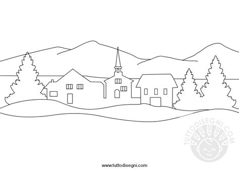 disegno paesaggio invernale tuttodisegnicom