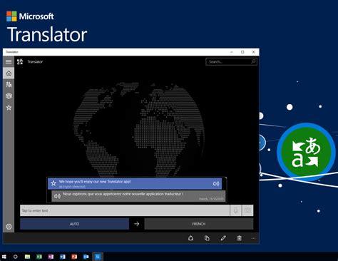 microsoft targets with new translator app on windows 10