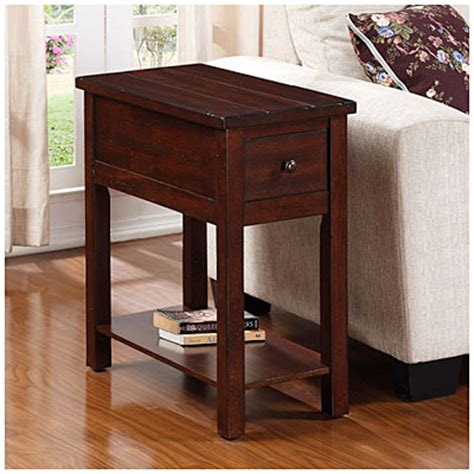 big lots furniture end tables cherry finish planked chairside table big lots
