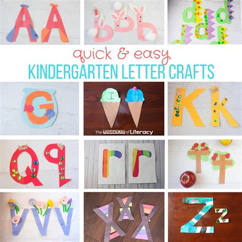 Quick And Easy Kindergarten Letter Crafts From Az