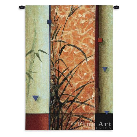 garden spirits ii contemporary tapestry wall hanging geometrical botanical design h45 quot x w30 quot