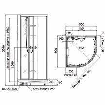 Installation Cabine De Douche : cabine de douche izibox quart de rond 90x90cm installation en angle quipement confort avec ~ Melissatoandfro.com Idées de Décoration
