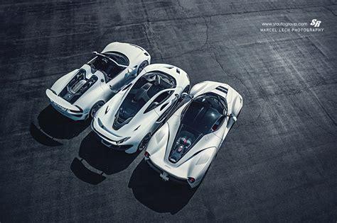 30 white laferrari mclaren p1 porsche 918 top view ...