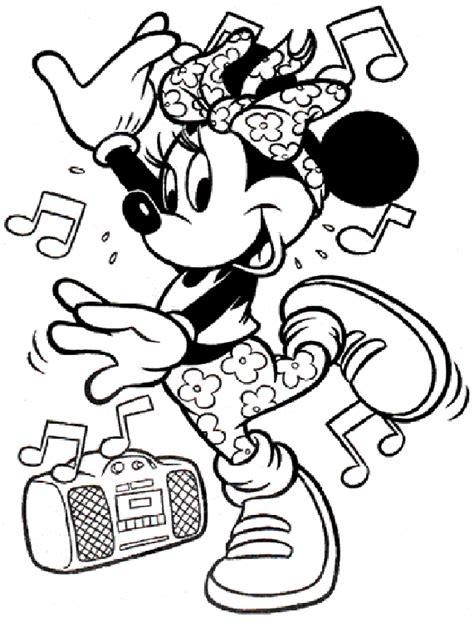 minnie mouse coloring pages coloringpagesabccom